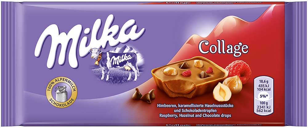 Milka Collage Himbeer 93g