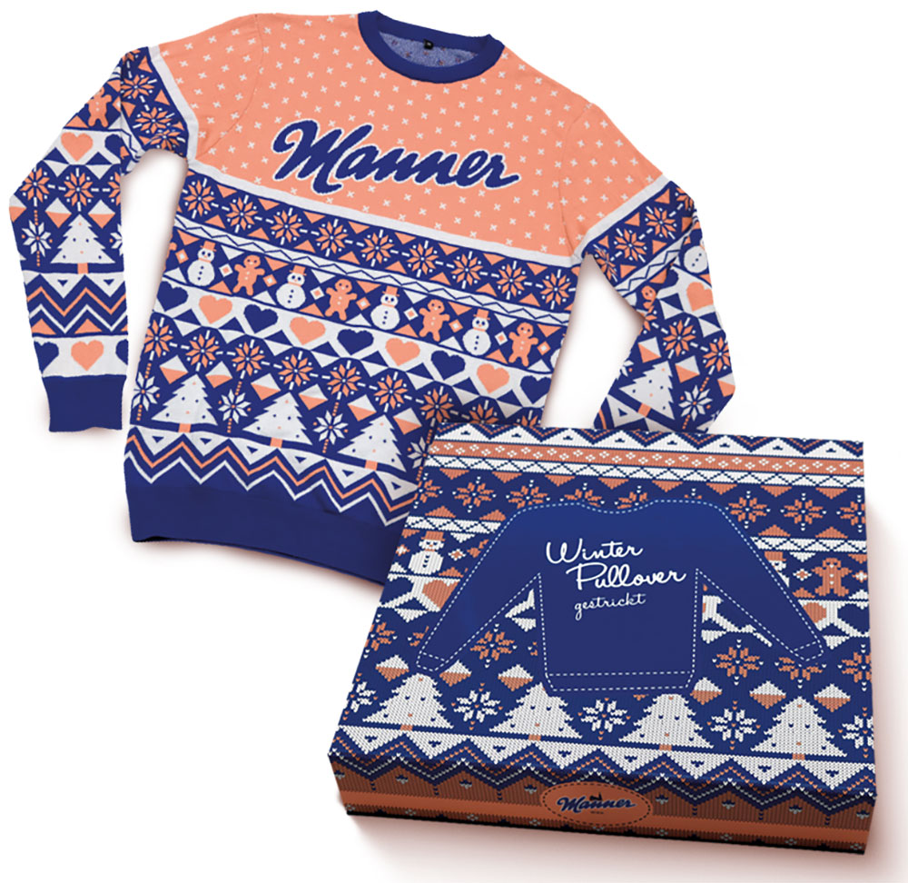 Manner Winter Pullover Größe: L