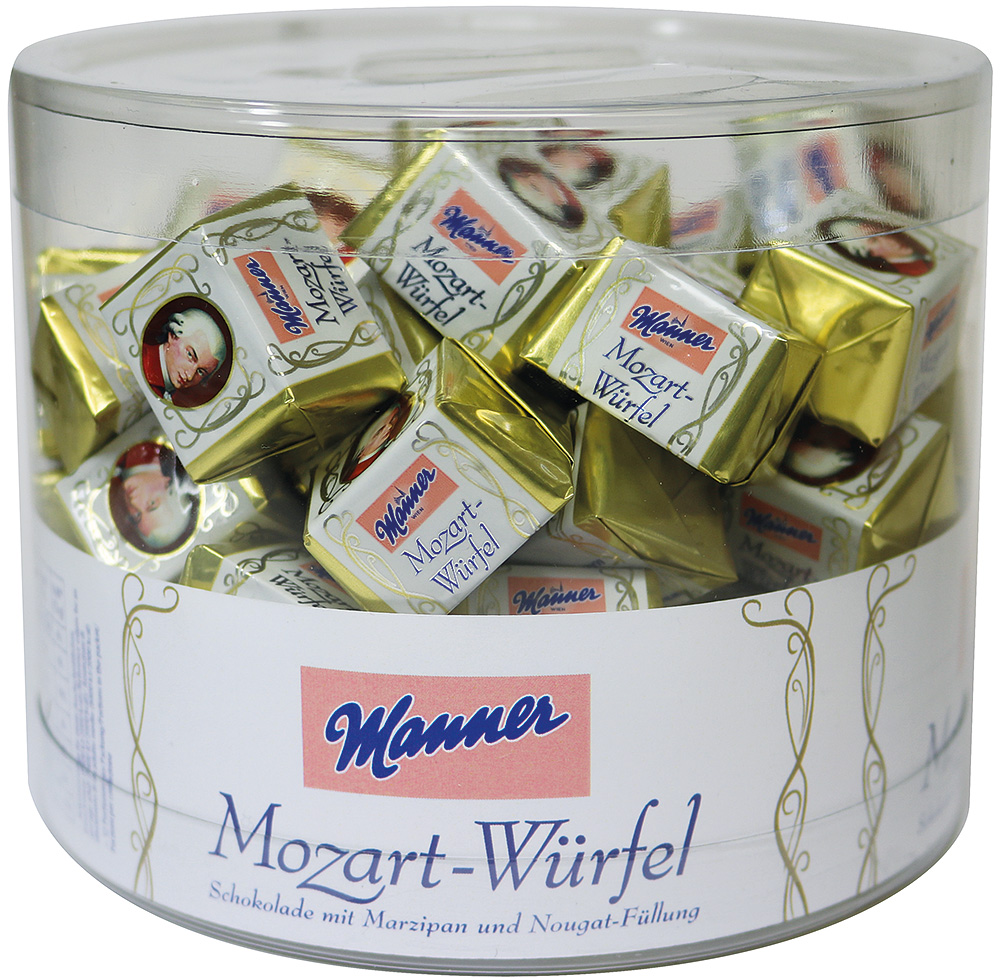 Manner Mozart Würfel Dose