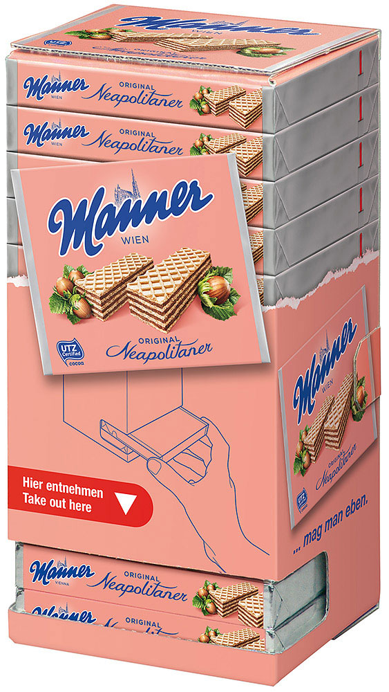 Manner Neapolitaner 12er Box Thekenaufsteller