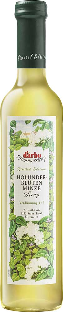 Darbo Sommersirup Holunderblüte-Minze Sirup Limited Edition