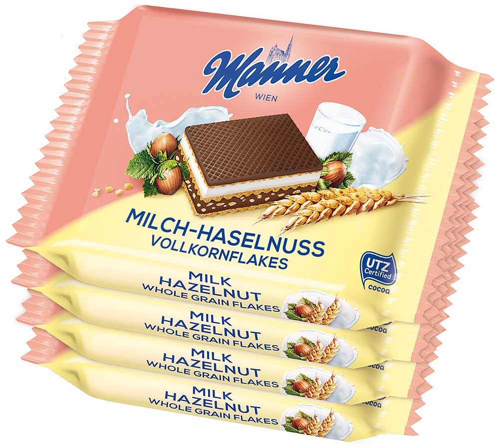 Manner Knusper Snack Vollkorn 4x 25g