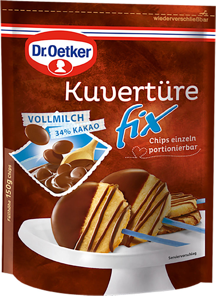 Dr. Oetker Kuvertüre fix Vollmilch 150 g