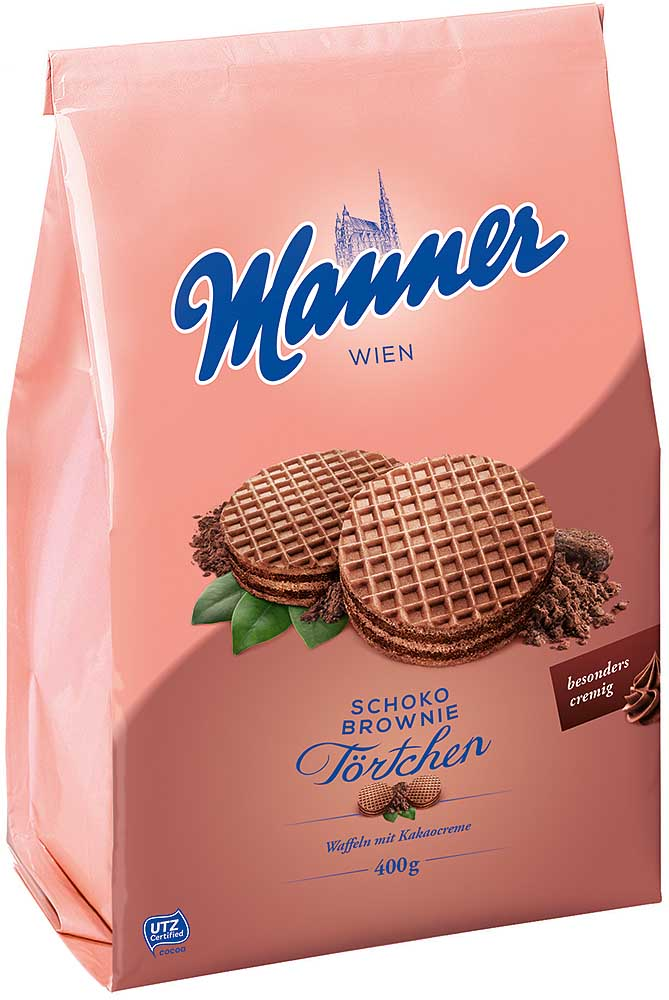 Manner Schoko-Brownie Törtchen im Beutel 400g