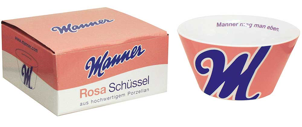 Manner Rosa Schüssel