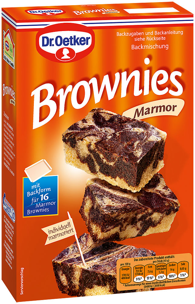 Dr. Oetker Marmor Brownies