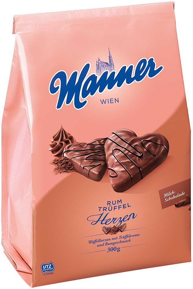 Manner Rum Trüffel Herzen