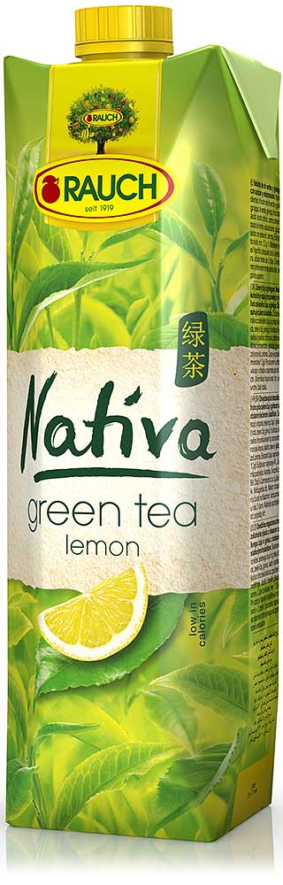 Rauch NATIVA Green Tea Lemon 1l Tetra Pak