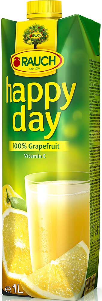 Rauch HAPPY DAY 100% Grapefruit 1l Tetra Pak